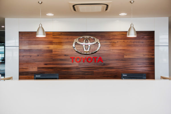 Pacific Toyota Entry Sign