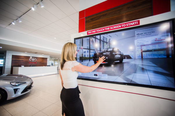 Pacific Toyota Visual Wall